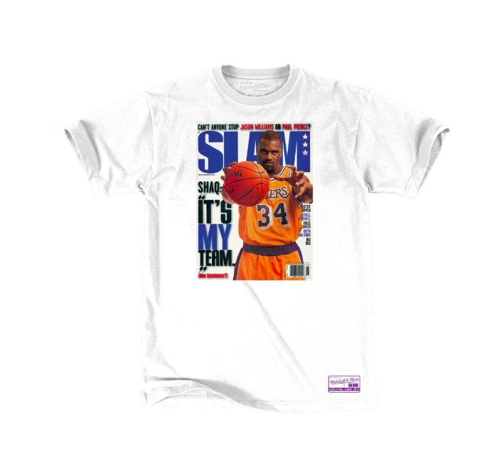 Mitchell & Ness x SLAM Magazine Cover Los Angeles Lakers Shaquille O'Neal T-Shirt