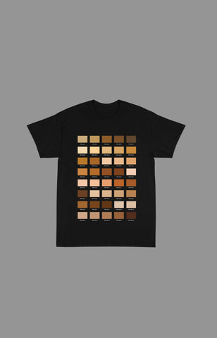 "Pantone ""Skin"" Tee Shirts (Available in Black & White)"