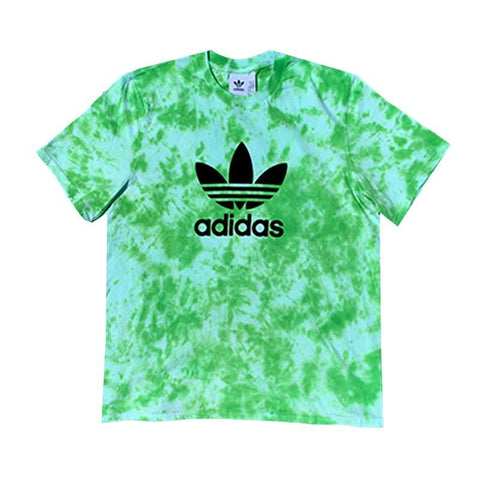 "Adidas x Jeffersons Custom Tonal Tie Dyed T-Shirt ""SLIME GREEN"""