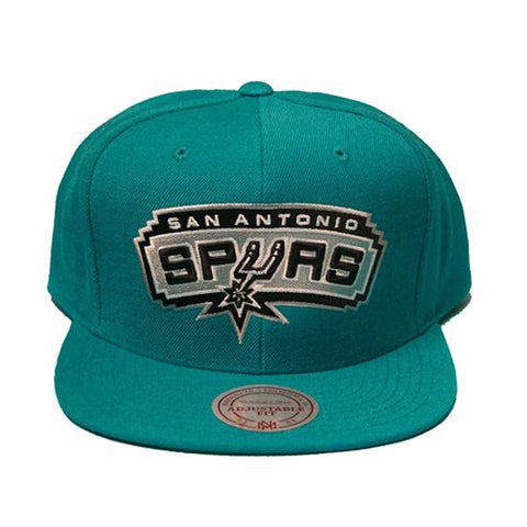 NBA Mitchell & Ness San Antonio Spurs Current Snapback Cap in Teal