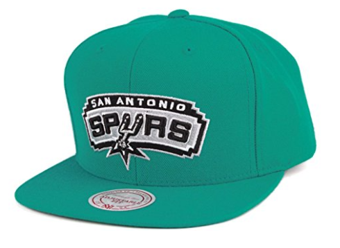 Mitchell and Ness NBA Current Wool Solid NT78Z San Antonio Spurs Snapback Caps