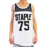 BASIC BBALL JERSEY in white - IN MEDIUM
