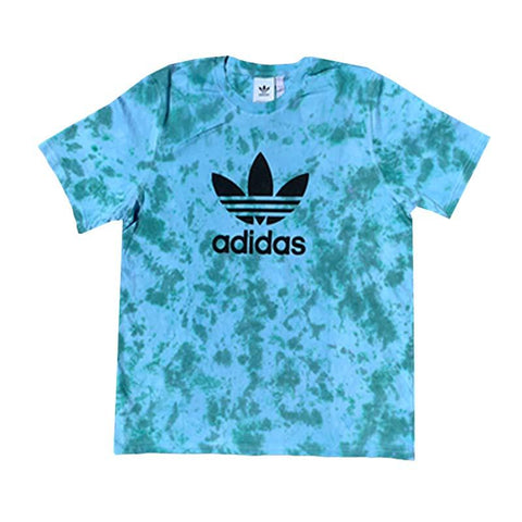 "Adidas x Jeffersons Custom Tonal Tie Dyed T-Shirt ""TEAL"""