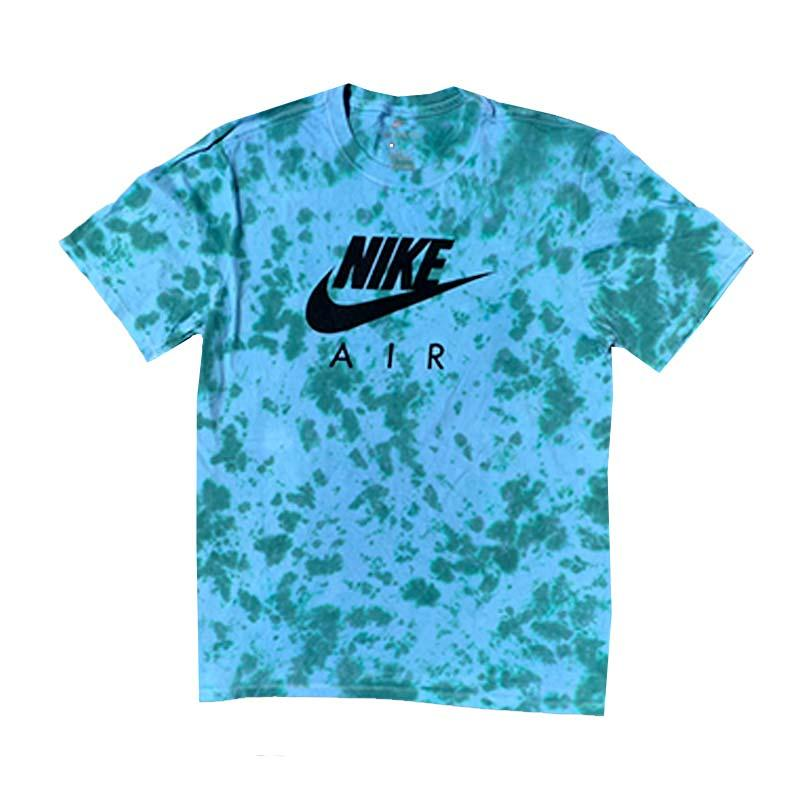 "Nike x Jeffersons Custom Tonal Tie Dyed T-Shirt ""TEAL"""