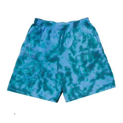"Jeffersons Custom Tonal Tie Dyed Shorts w/ Pockets ""TEAL"""