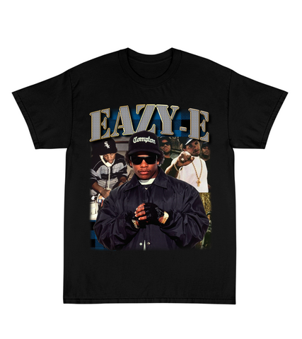 """EAZY-E"" Tour Tee in Black"