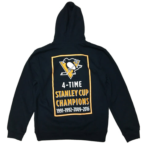 Mitchell & Ness Pittsburgh Penguins Team History Hoody In Black