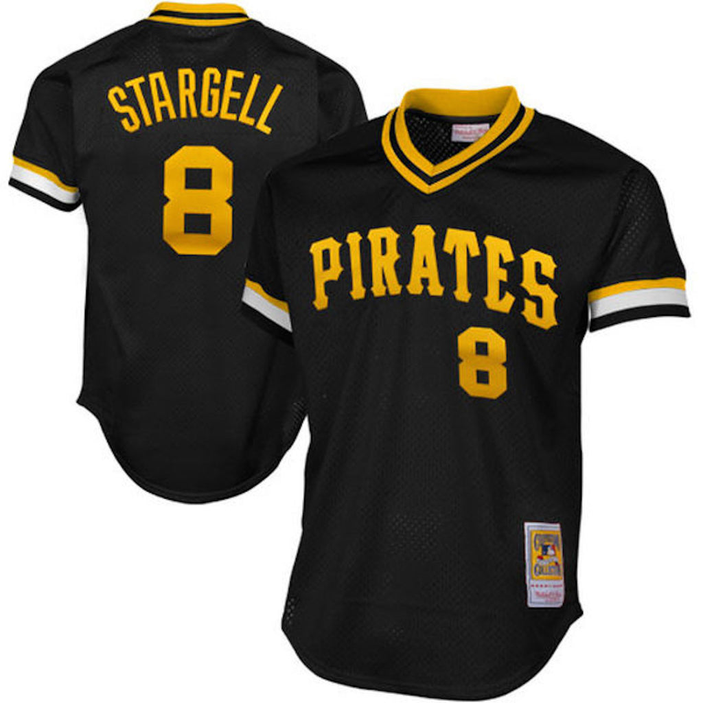 Mitchell & Ness Willie Stargell 1982 Authentic Mesh BP Jersey Pittsburgh Pirates Black