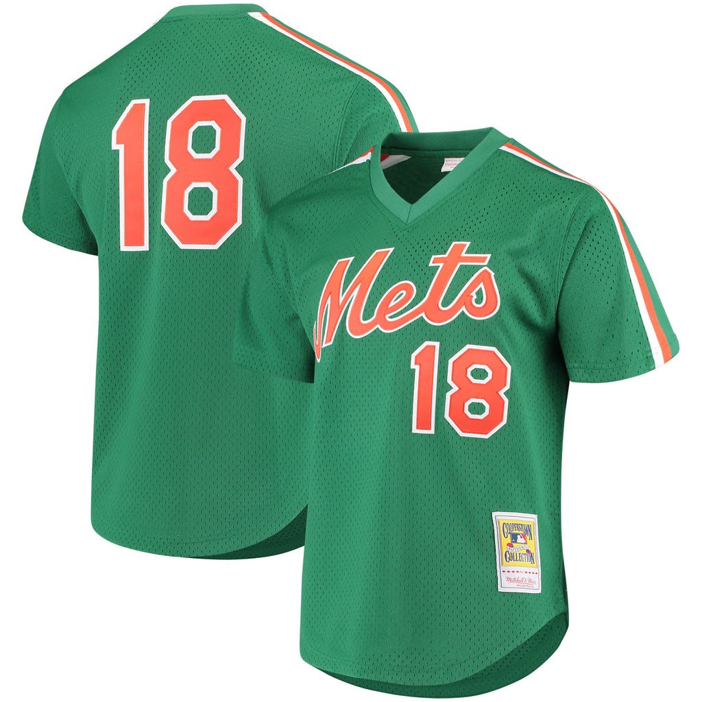 Mitchell & Ness NY Mets Darryl Strawberry Green Cooperstown Mesh Batting Practice Jersey (Gatorade)