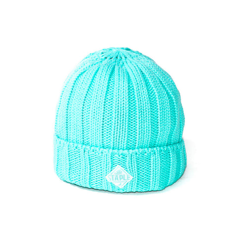 Cable Beanie In Teal