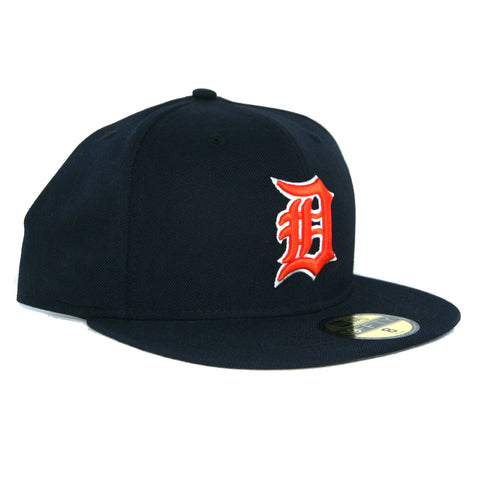 New Era 59Fifty Detriot Tigers Grey Bottom Fitted  In Navy