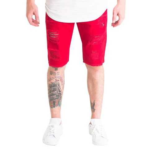 Crysp Denim Treasures Shorts In Red
