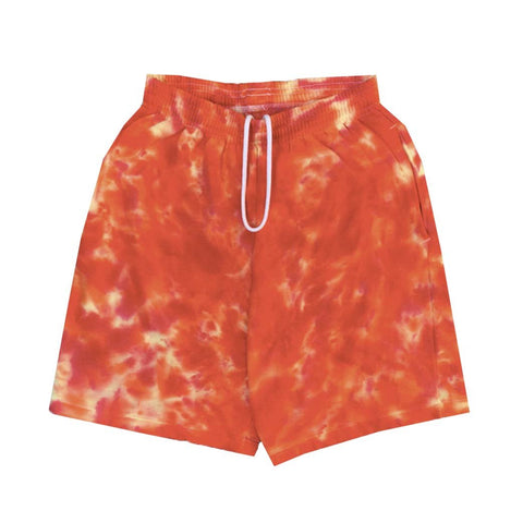 "Jeffersons ""Trippy Red"" Tie Dyed Sweatshorts w/ Pockets"