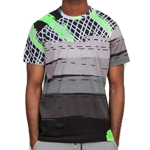 Staple Max NEON TEE in Grey Lime