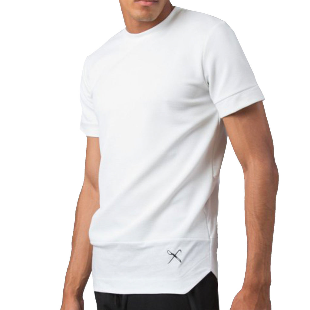 Kings Apparel Waffle Tee In White