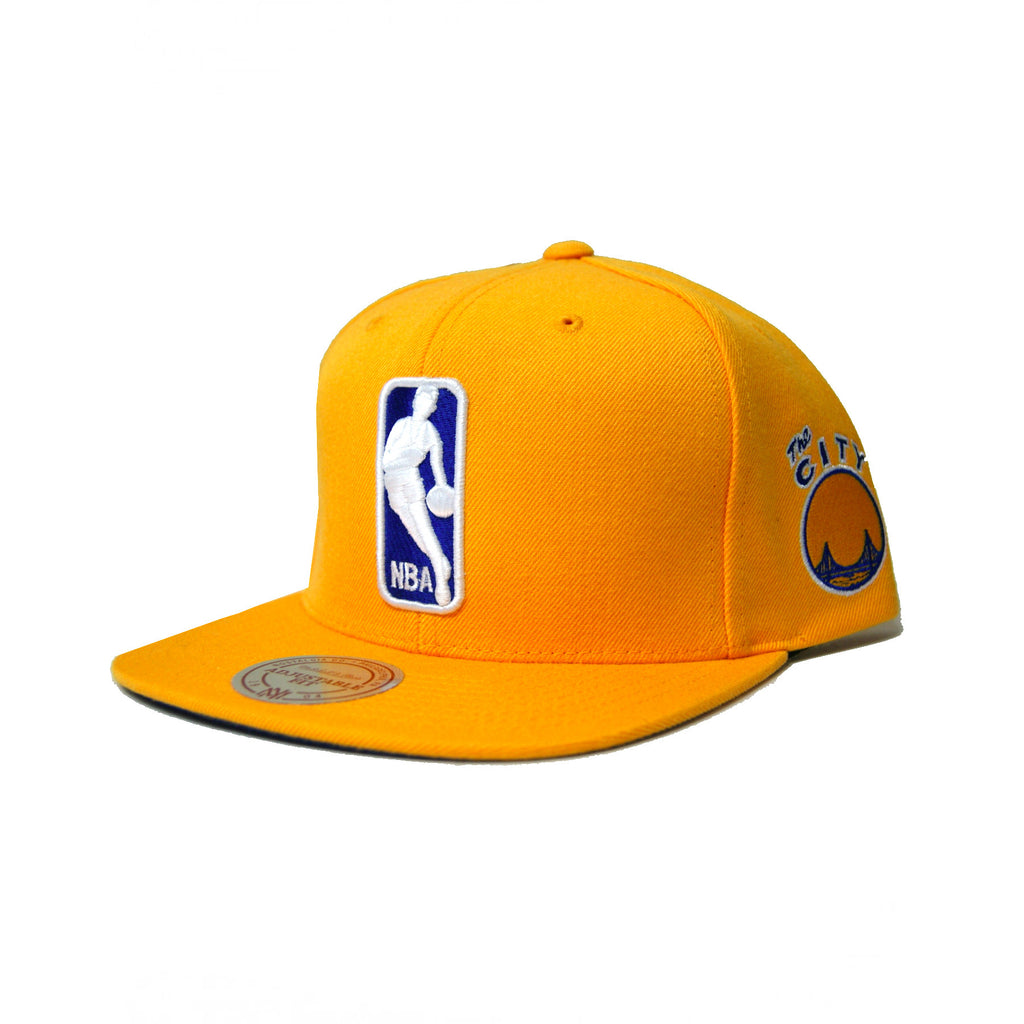Mitchell & Ness The League Snapback San Francisco Warriors In Yellow