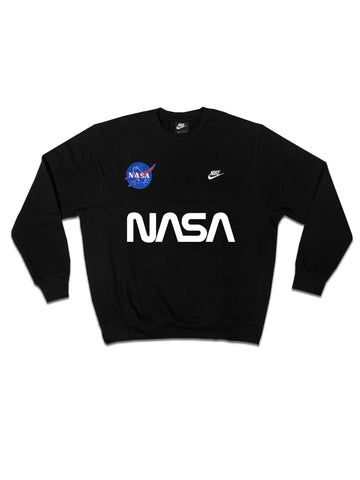 "Fall19 Nike ""NASA"" Custom Crewneck Sweatshirt in Black"