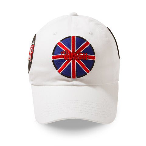 "Posh Dad Hat Rock Hard Series ""Brit"" White"