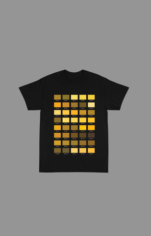 "Pantone ""Yellow"" Tee Shirts (Available in Black & White)"