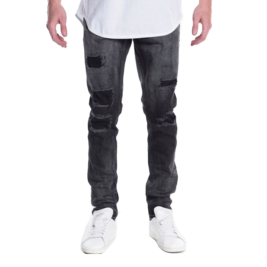 Young Ripped Distressed Denim Jeans Black