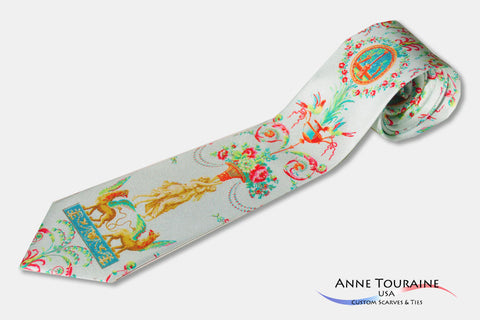 Custom made printed ties with intricate design