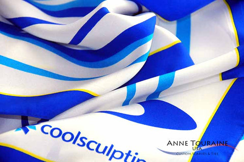 custom scarves and ties by ANNE TOURAINE Custom Scarves and Ties: a unique creation for COOLSCULPTING