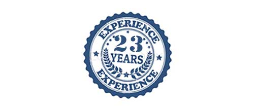 23 YEARS OF EXPERIENCE