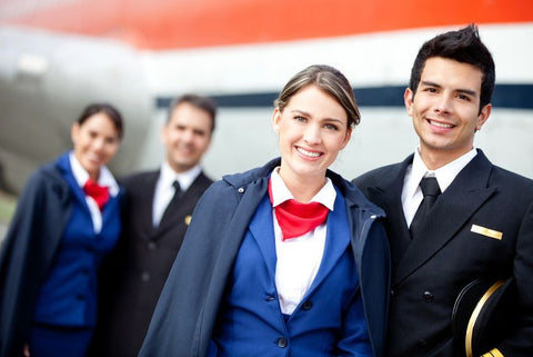 Custom scarves and custom ties for airline crew members