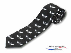 Black custom neckties by ANNE TOURAINE USA Custom Scarves and Ties