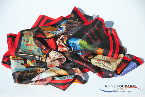 Custom silk scarves by ANNE TOURAINE Inc. Custom Scarves and Ties