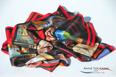 Anniversary custom scarves and ties by ANNE TOURAINE Custom Scarves and Ties