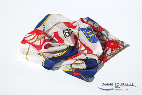 Custom  Golden Spike scarf by ANNE TOURAINE Inc. Custom Scarves and Ties