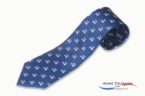 custom-made-logoed-ties-repeated-pattern-scattered-logos-navy-blue-anne-touraine-