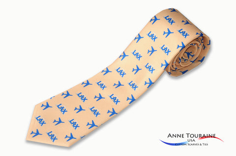 custom-made-logoed-ties-repeated-pattern-scattered-logos-yellow-anne-touraine-