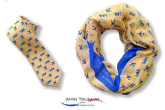 custom-scarves-ties-infinity-airlines-airports-anne-touraine-