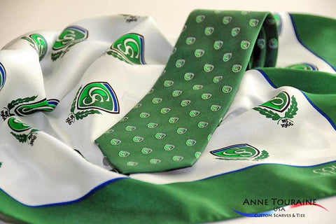 Coordinated custom scarves and custom ties