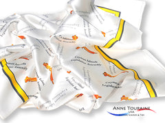Custom silk scarves created by ANNE TOURAINE USA Custom Scarves and Ties