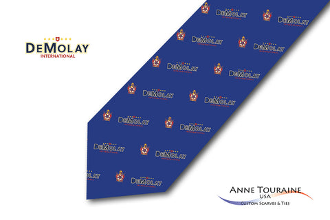 53895ebe0459 Custom logo ties: based on your logo, colors and seals, ANNE TOURAINE USA