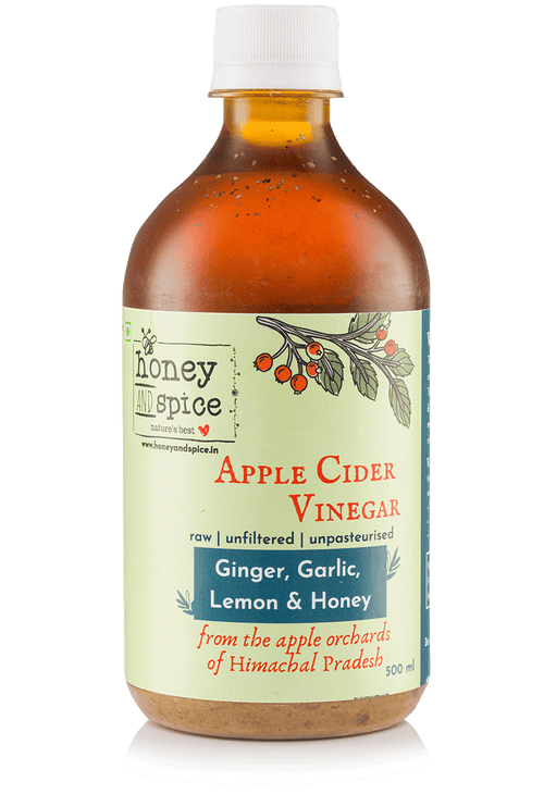 Apple cider vinegar with ginger, garlic, lemon and honey 500ml