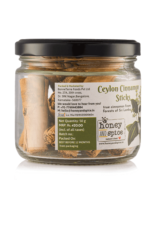 Ceylon Cinnamon Sticks 50gm