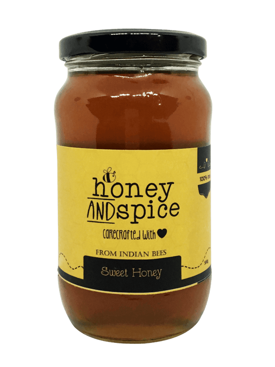 Natural Sweet Honey Bottle Front