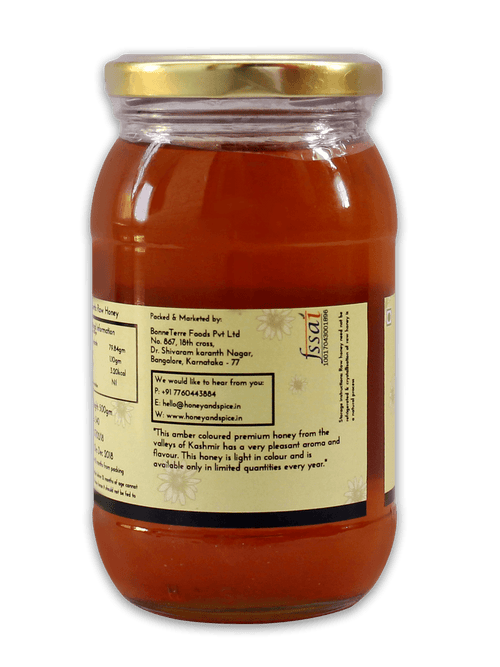 Honey and Spice ™ Premium Kashmir Honey