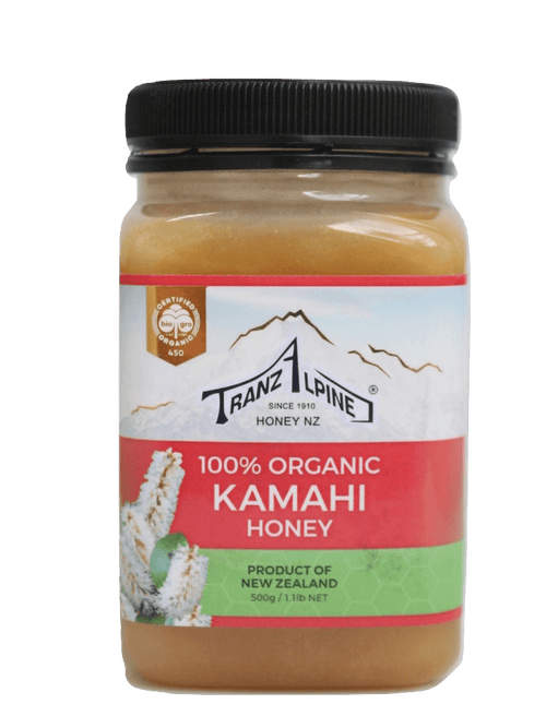 TranzAlpine 100% Organic Kamahi Honey, 500gm