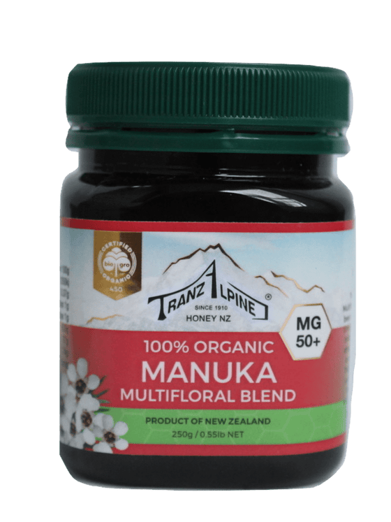 TranzAlpine Organic Manuka Honey, MG 50+