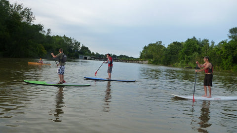 Lesson : Learn to SUP for Beginners 4 Week - Grand River Kayak Dunnville Ontario Canada