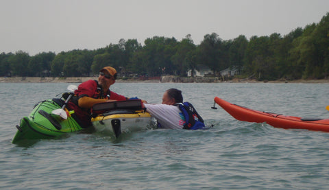 Lesson : Kayak Rescue and Recovery 2 - Grand River Kayak Dunnville Ontario Canada