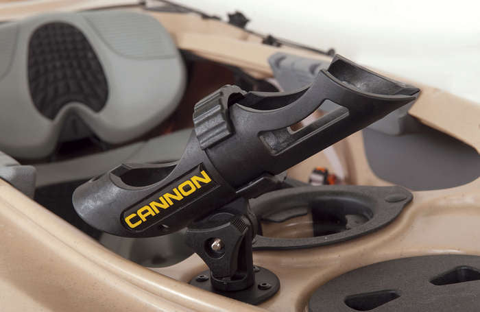 Cannon fishing rod holder at grand river kayak dunnville for Spring loaded fishing rod holder