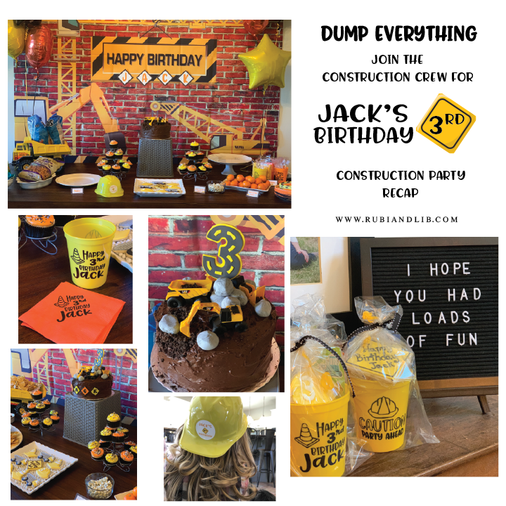 A Ground Breaking Construction Themed Party