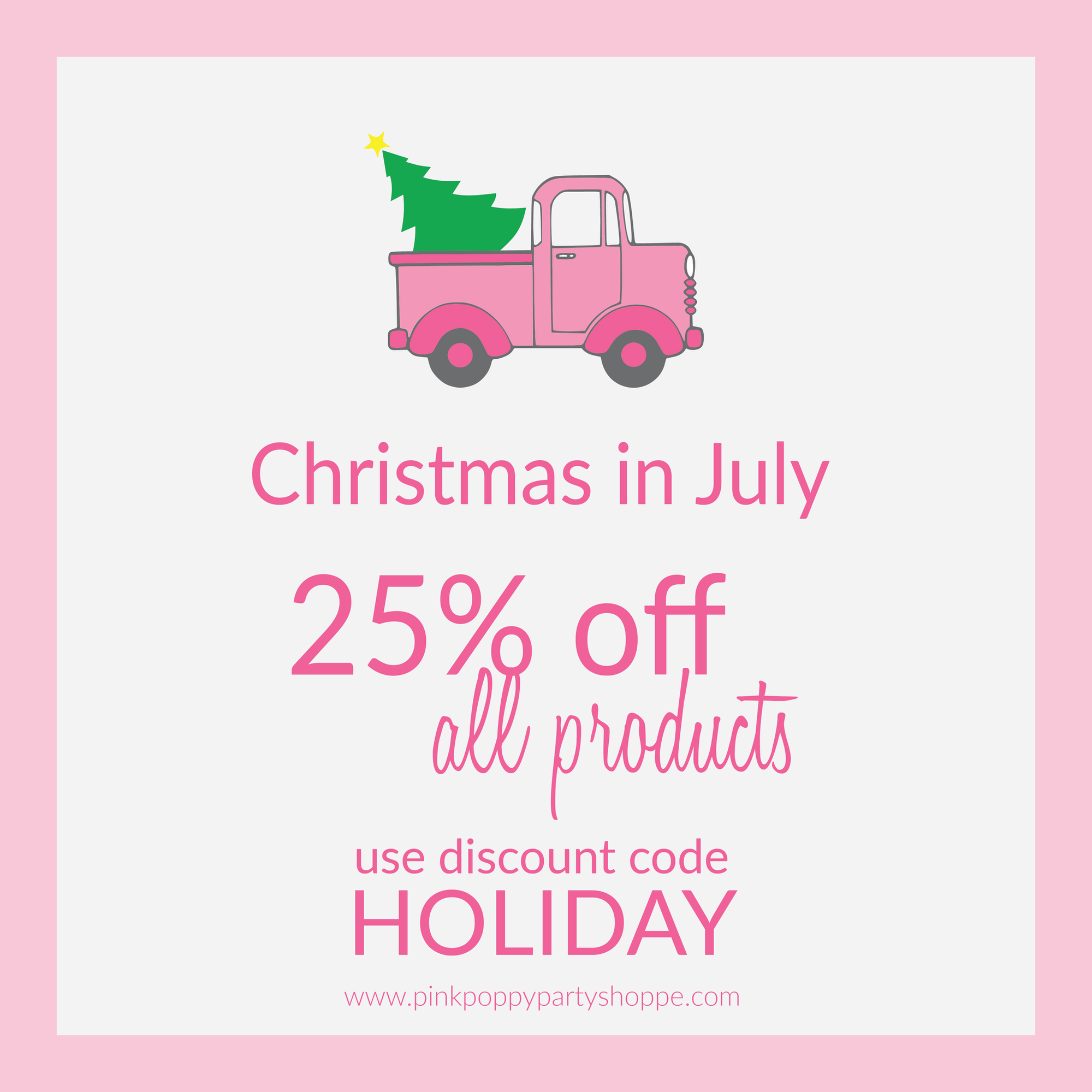 {Sale} It's Christmas in July - Save 25%