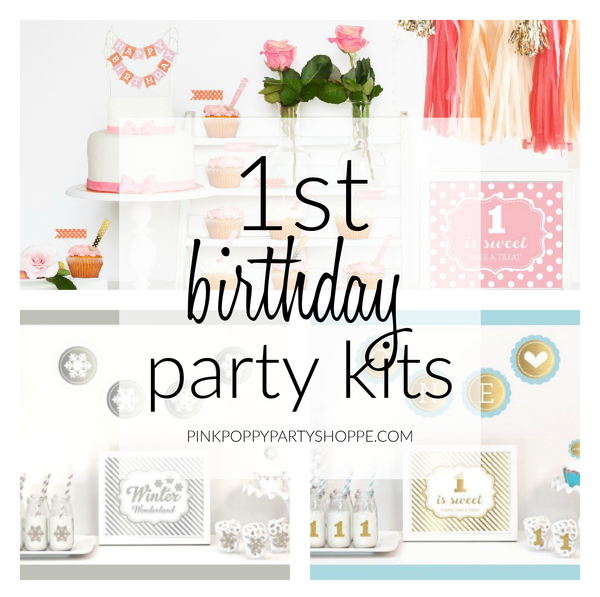 {Plan Your Party} Party Kits to Help Plan The Perfect 1st Birthday Party